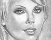 Charlize Theron  Original Drawing