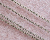 Antique Brass Plated Cross Chain Soldered Link Nickel Free 2mm x 1.5mm 373