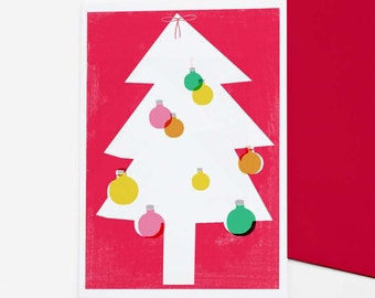 Tree Christmas / holiday card set - free shipping for 3+ packs