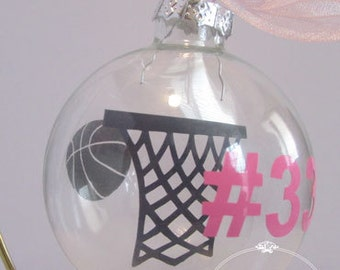 "Personalized ""Floating"" Sports Silhouette Ornament"
