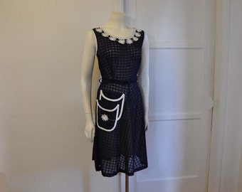 40s dress / Daisy Deadstock Girl Next Door Vintage 1940s Day Dress
