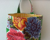 Beth's Green Mum Oilcloth Car Trash Bag Receptacle Storage Container