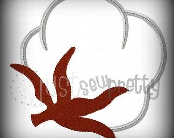 Cotton Boll Machine Applique Embroidery Design
