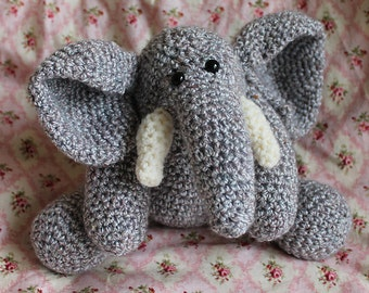 Download Now - CROCHET PATTERN - Mr. Elephant - Amigurumi Pattern PDF