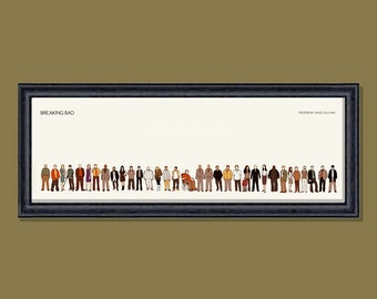 Breaking Bad framed limited edition 12x4 inches print