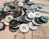 """1/2 lb. buttons vintage mother of pearl antique 3/4"""" new old stock 2 hole"""