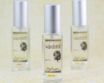 Wanderer Perfume   Fall Inspired Perfume with notes of Bergamot, Orchid, Amber, Cedarwood, Vanilla, and Musk