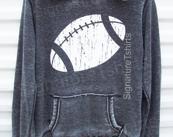 Football Girly Pullover Hoodie Sweatshirt - womens sweater - sport hooded sweatshirt - football jersey - Christmas Gift