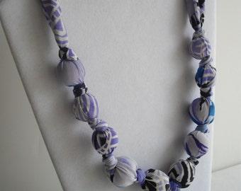 Fashion Statement Scarf necklace handmade vintage silk scarf necklace by handcraftusa