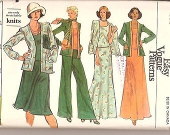 Vogue 9061 Vintage 70s Jacket Top Pants Shell Skirt Sewing Pattern Size 14 UNCUT