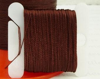 Fig Silk Like Beaders Secret Knotting Thread Beading Stringing Sewing 20 yards Polyester