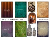 mAnLy bAcKgRoUnDs collage sheet atc aceo man father dad stripes writing postage bottle old image sepia watch door