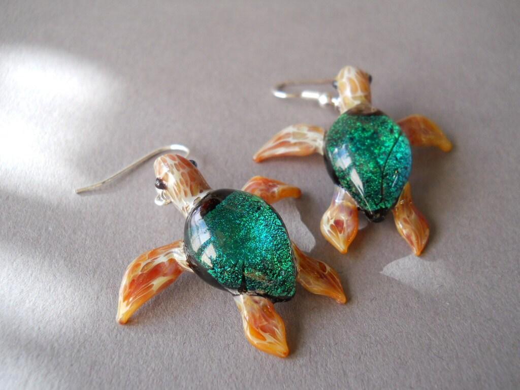 Medium Faux Turquoise Sea Turtle Box  |Turquoise Sea Turtle
