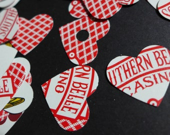Southern Belle Playing Card Heart Confetti Table Sprinkles Die Cuts