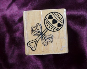 Baby Rattle Rubber Stamp