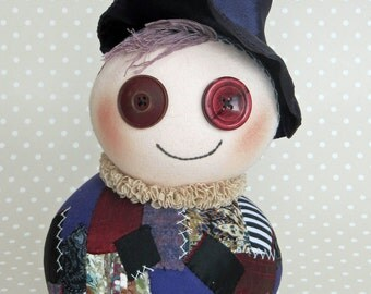 Mag Witch Podgy Patchwork Art Doll