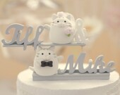 cat and kitty Wedding Cake Topper---k870