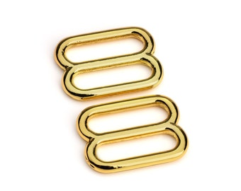 "50pcs - 3/4"" Metal Diecast Zinc Slides Gold - Free Shipping (ZINC SLIDE ZSD-102)"