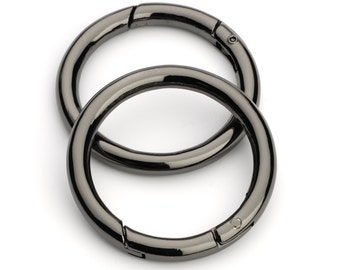"100pcs - 1 1/2"" Gate-Ring - Black Nickel - Free Shipping (GATE RING GRG-130)"