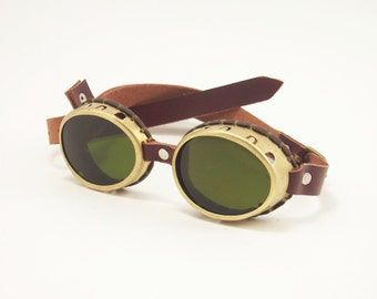 Steampunk Brass Goggles Sunglasses LARP Victorian Cosplay