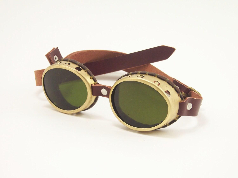 Steampunk Brass Goggles Sunglasses LARP Victorian Cosplay