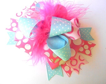 OTT Bows Polka dot Hair bow Over the Top Boutique Style