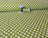 Green Dots from the Little Matryoshka Collection C3313 by Carly Griffith for Riley Blake Fabrics 1 yard