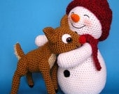 Crochet SNOWMAN and FAWN pattern