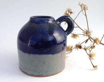 Small Blue and Grey Stoneware Jug