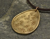 My sister my friend Braille Pendant in Bright Bronze