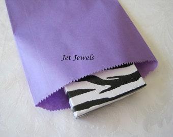 Paper Bags, Gift Bags, Kraft Paper Bags, Purple Paper Bags, Candy Bags, Merchandise Bags, Paper Gift Bags, Party Favor Bags 6x9 Pack 50