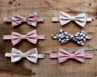 Set of Six Mismatched Wedding Bow Ties - Groomsmen Bowties - Custom Wedding Bow Ties - Groomsmen Bowties - Groomsmen Gifts - Made To Order