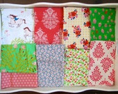32x32 Wee Wander Summer Ride Horses Baby Blanket Made to Order