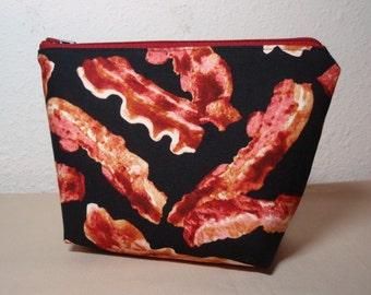 Bacon - Zipper Cosmetic Pouch