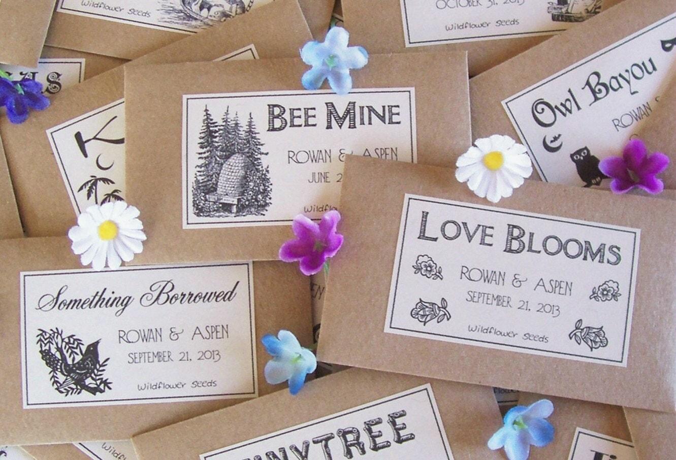 100 Flower Seed Wedding Favors Wedding Seed By Fairylandbazaar