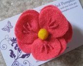 Store Closing Coupon Code 35 percent Hot Pink Pink Felt Flower Clip