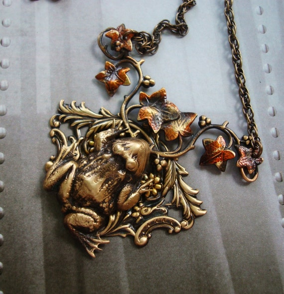 Fall jewelry necklace a frogs journey into fall autumn for Fall into color jewelry walmart