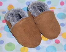 suede baby mocassins warm for winter 6-12 months or choose size