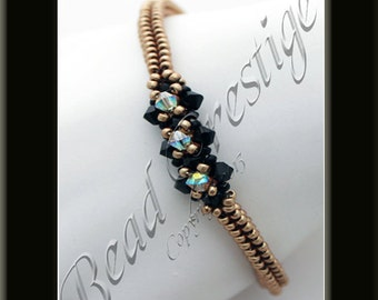 KR021 TUTORIAL - Lucidity Bracelet Tutorial - It's Also Reversible! Beadweaving Pattern Instructions