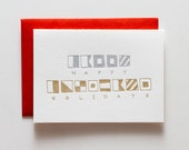 Nautical Holidays * holiday letterpressed card - CH123