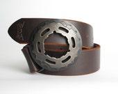 Belt Buckle- buckle for snap belt- bicycle buckle- SUPER COG belt buckle
