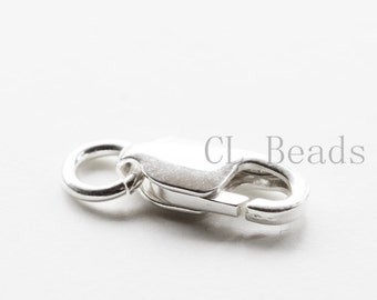 One Piece S925 Sterling Silver Lobster Claw - Lobster Clasp  - 14mm