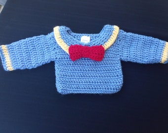 newborn sweater, photo prop, nautical, going home outfit, cartoon nautical  sweater, newborn sweater , baby shower gift, baby boy sweater