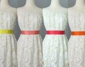 Hochzeit Brautdoppelseitigen Satinband Schärpe Gelb, Lachs, Koralle und orange