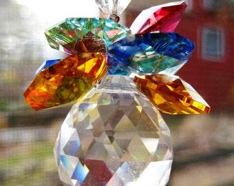 Swarovski  Crystal Suncatcher Car Charm, Rainbow Ball