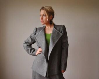 1980s Structured Suit Set, Size Large