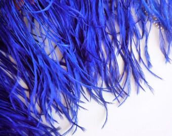VOGUE OSTRICH Fringe , Electric Blue, Cobalt  /  337