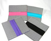 Checkbook Cover Houndstooth Fabric with YOUR choice of lining color