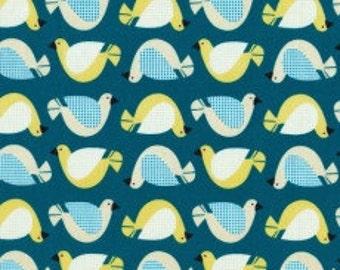 Cloud 9 Organic Fabric - Birdsong Teal 1/2 yard