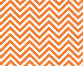 Ann Kelle  REMIX Orange Small Chevron for Robert Kaufman Fabrics  - 1 yard